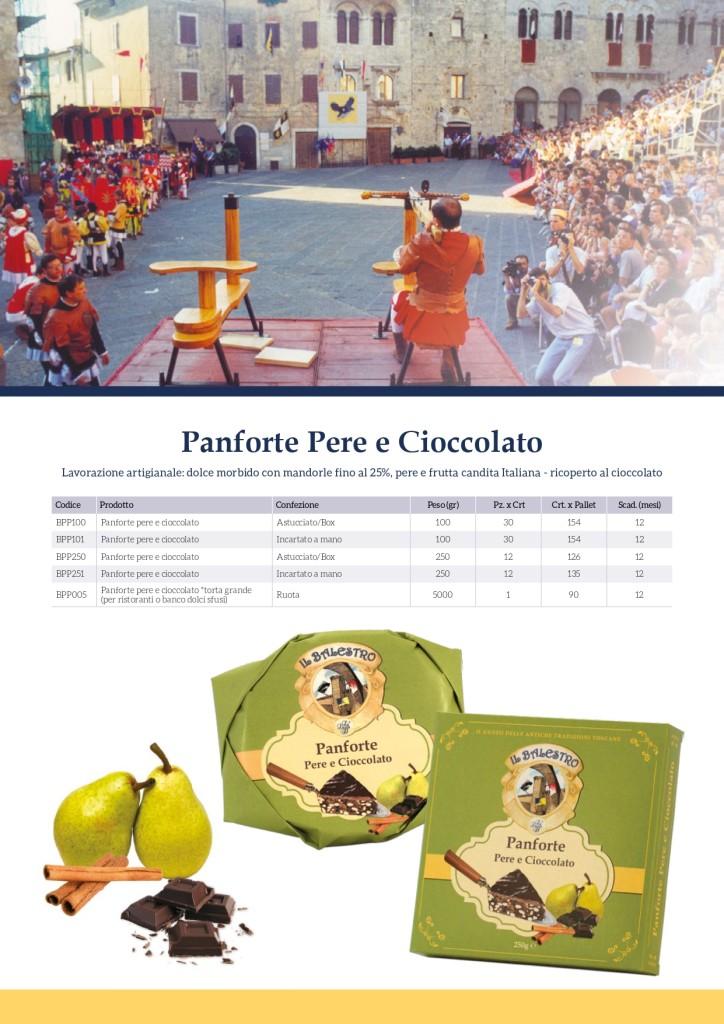 panforte pere e cioccolato